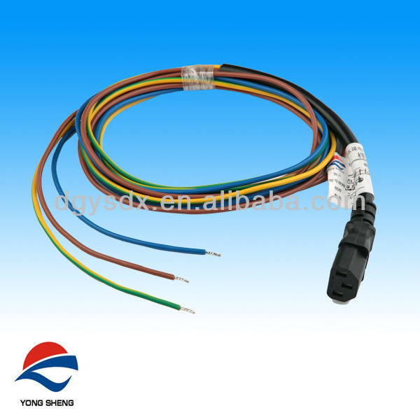 Female Iec C13 Power Plug With Stripped And Tinned Wire - Buy Iec ...