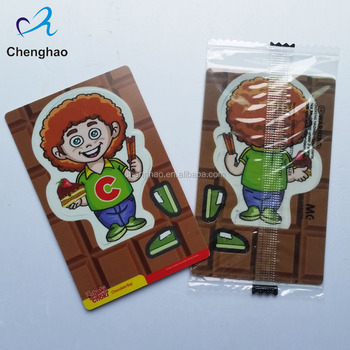 cheap custom plastic card 3d puzzle with FDA package