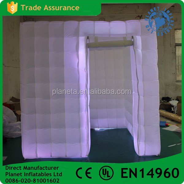 Party Event Used Photo Booth Inflatable With Led Light