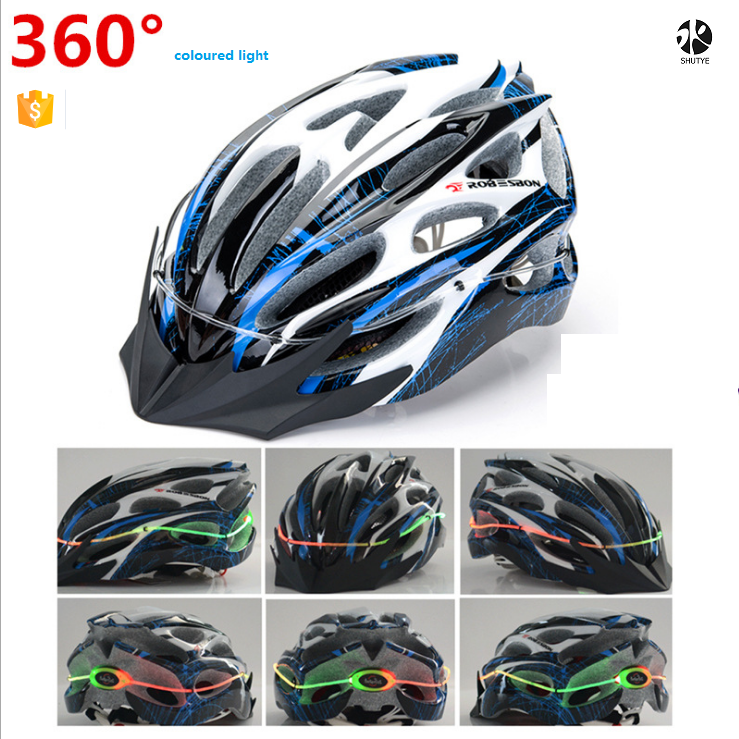 China Supplier 2016 Pink Road Bicycle Helmet for Motorcycle,Electrombile ETC bike safety helmet with Waterproof LED light