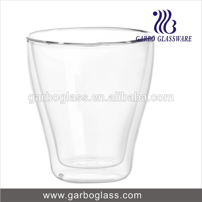 Garbo China wholesale heat-resistant glass tumbler wine/water cup double wall glass