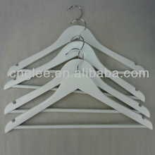 New Style White Wood Hangers For Clothes