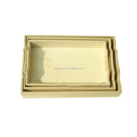 Wholesale wood hotel serving tray set