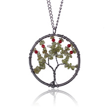 ST0167 High Fashion Women Wonderful Tree of Life Stone Pedant Necklaces Jewelry 2015