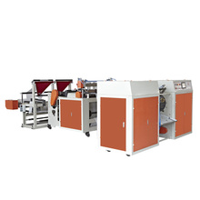 Automatic Double Lines Coreless Winder Garbage Bag Making Machine