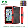 Cell phone cases covers manufacturer PC+TPU hybrid combo heavy duty holster kickstand dual layer stand case cover for iPhone 5c