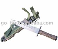 M9 Military knife with Fitted Heavy Duty Plastic/Nylon Sheath