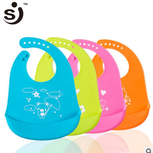 Super Soft Easy To Clean Leakproof Waterproof Silicone Baby Bib