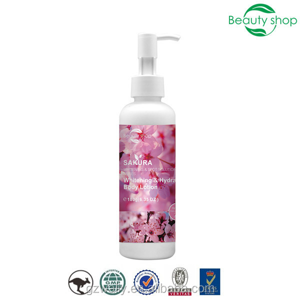 Sakura skin whitening body lotion