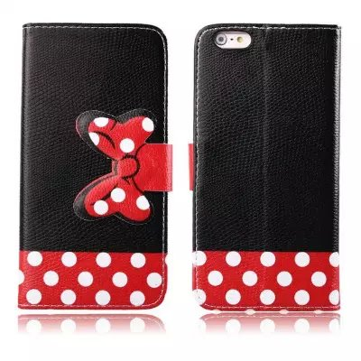 For Apple iPod Touch 5 5g / 6g leather mobile phone stand wallet cases bowknot cell phone flip cover with card holder