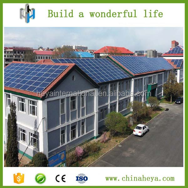 3kw/h low cost modern light steel prefab solar house, villa for africa