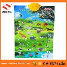 UDENGS China Printing Company Supply Animal Growth Chart Educational Baby Growth Charts