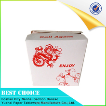 Custom Disposable printing foldable food grade paper box for sale