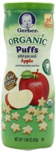 Gerber Organic Puffs Cereal Snack Apple 1.48 Ounce (Pack of 6)
