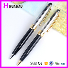 2017 pretty elegant and luxury retractable metal ball point pen with fat and heavy body