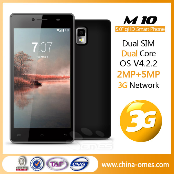 DHL Express 3-7 days delivery <strong>M10</strong> 3G 5inch QHD IPS MTK 6572 5 inch dual core <strong>android</strong> cell phone