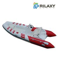 China Cheap 4.8m 16ft Fiberglass Hull Inflatable RIB Boat RIB480B as Tender Dinghy