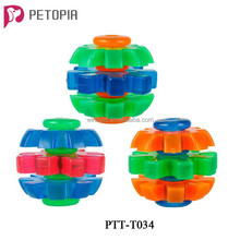New Durable Thermoplastic Rubber TPR Mix Color Rotary Ball Dog Toys