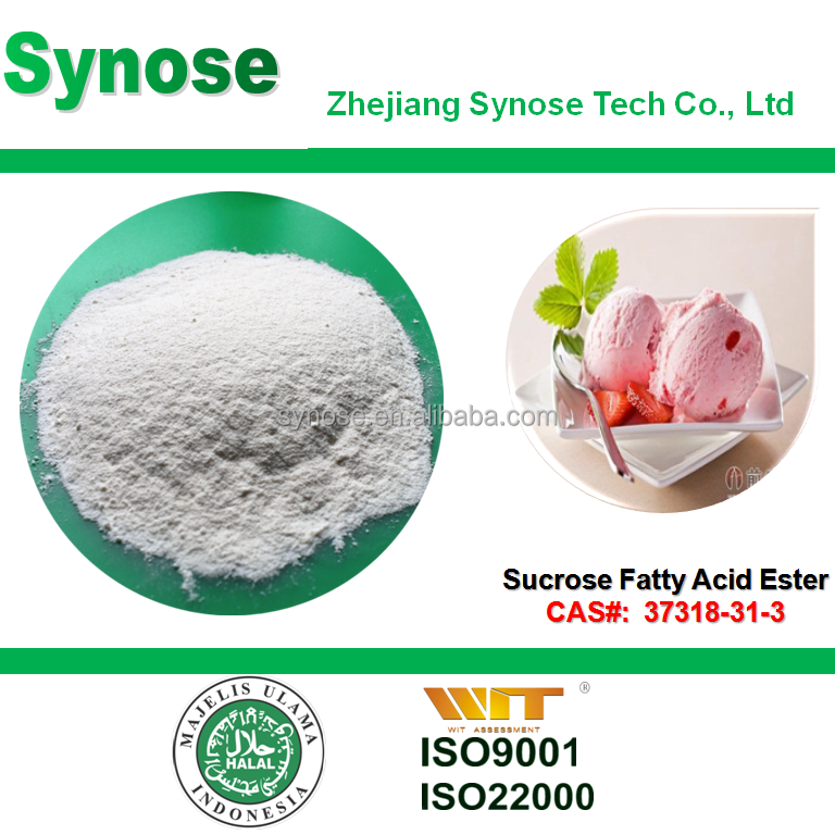 Sucrose Fatty Acid Ester SE Ice cream, frozen food and drinks emulsifier CAS 37318-31-3