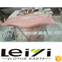 Best sold wood/iron legs marble dining table, marble top dining table, stone dining table