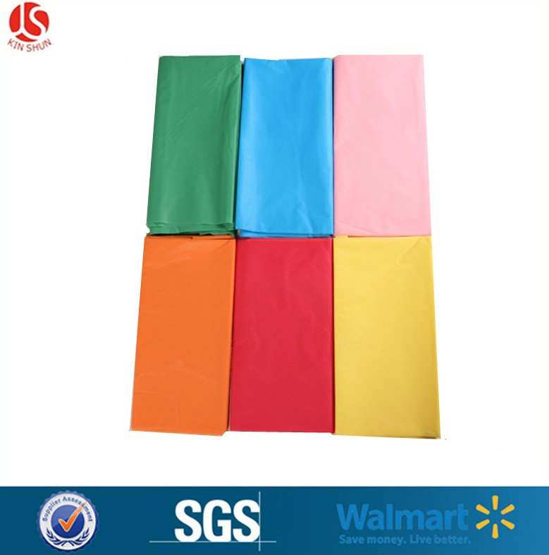 oil proof table cloth / plastic solid table cover / disposable table sheet