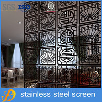 Dubai hot sale stainless steel metal room divider screen of wall partitions