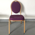Metal Furniture Dining purple oval back Steel Chair For Event
