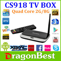 Dragonbest Android Tv Box Cs918 Hot Selling Big Discount Price For The World Google Tv Box 2G 8G