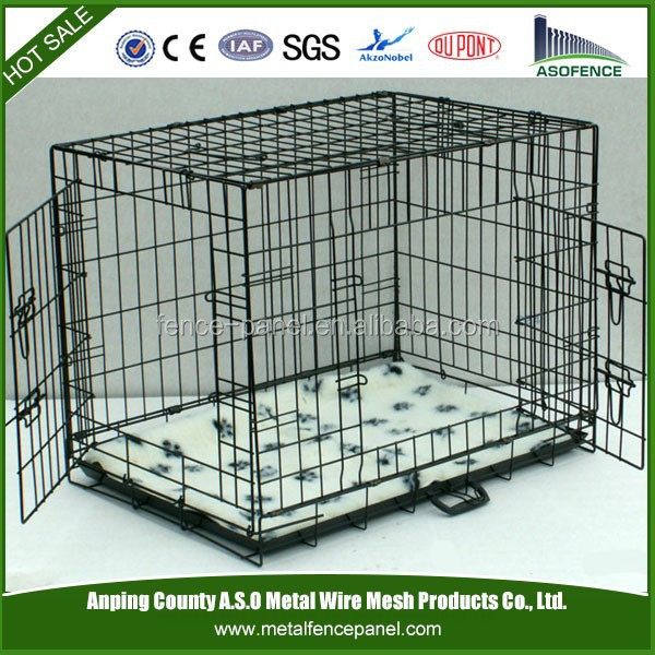 Metal Folding Cat Carrier / Dog Cage with ABS Tray Pan ( variety of colors )