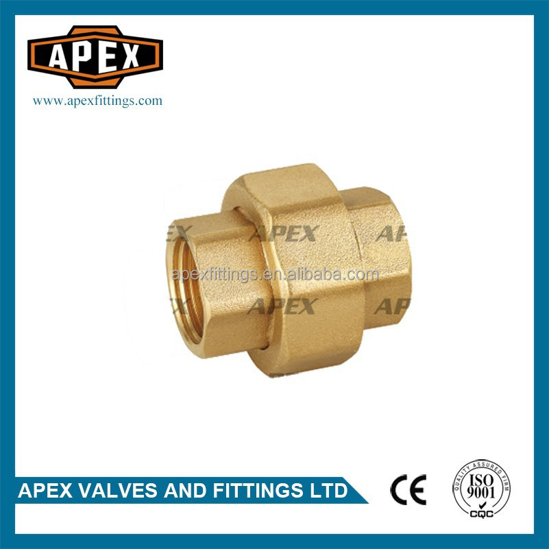 APEX Brass Pipe Fittings Straight Female Union With Metal Sealed