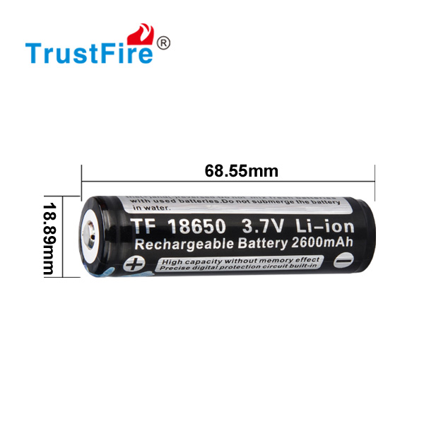 Trustfire factory wholesale cgr 18650 ce with PCB