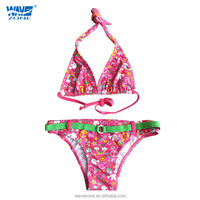 2015 sexy girls beach swimming tankinis of waist belt sign