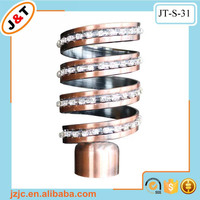 off sale metal shower curtain rings bronze curtain rod, wholesale net curtain pole extendable