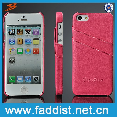 Luxury design case for iphone ,for iphone 5 case back cover leather case