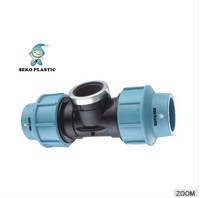 pp compression fittings female tee pp/peplastic fittings for pipes,very cheap price
