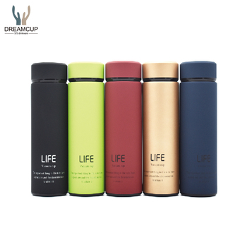 Promotion custom bpa free double wall stainless steel tea infuser bottle