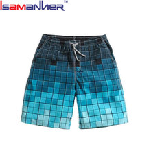Boys different printing beachwear leisure mens beach shorts with pocket