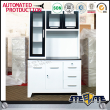 China hot sale used wall hanging stainless steel kitchen cabinet simple design storage kitchen cabinets with hardware