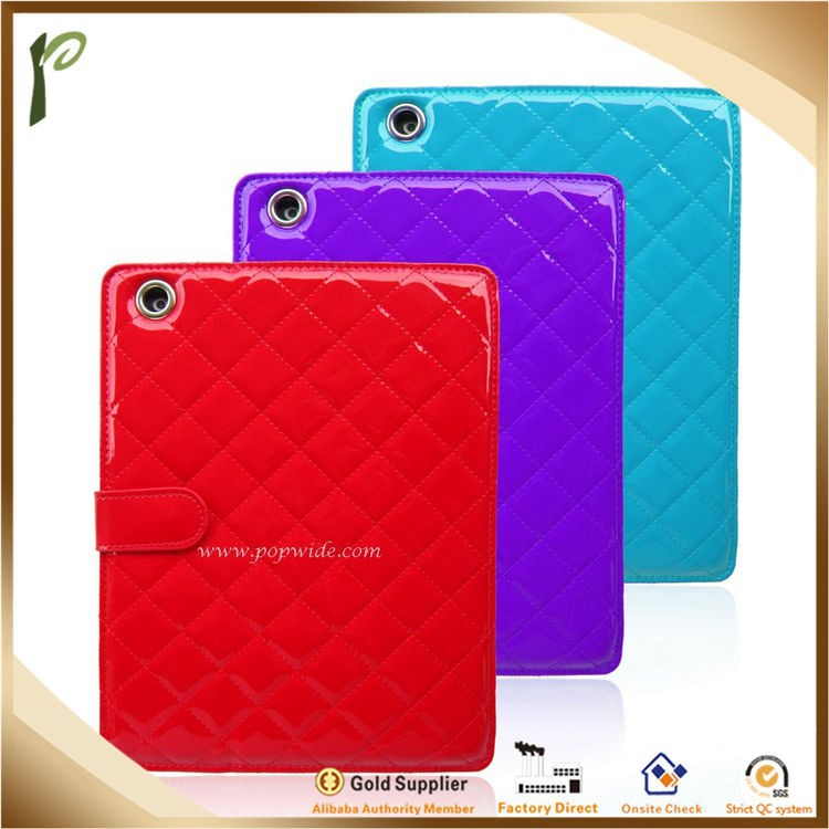 Popwide 2015 Newest Hot Sale Colorful Fancy PU Leather Case for Ipad