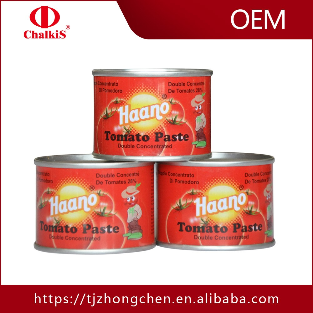 paste of tomato sauce ketchup in china high quality canned tomatoes