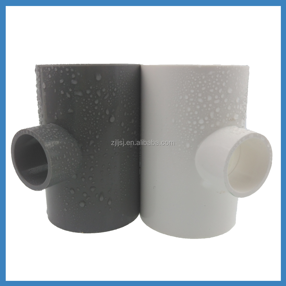 2015 Good quality Plumbing Materials NEW PVC reducing cross tee