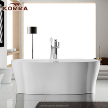 Wing designs Artificial Stone bathtub,unique shape white acrylic bathtub freestanding with stainless steel frame support