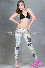 Fashion wholesale stretch legging pants extra large wholesale legging tights for fat women