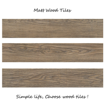 Ceramic tawny brown wood texture tile flooring for wood stair tiles