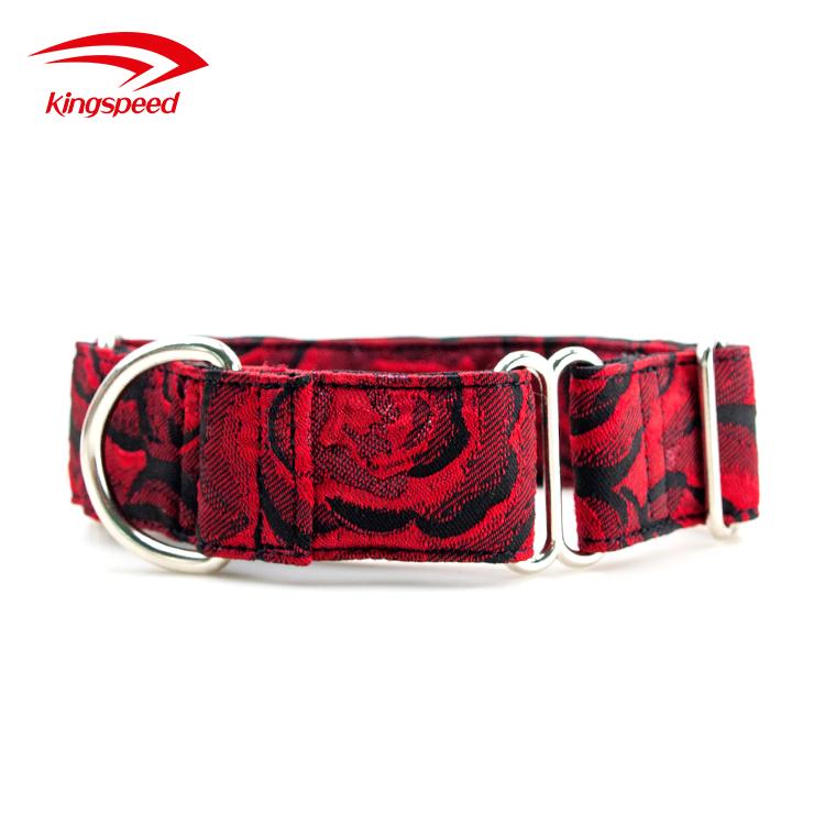 Adjustable martingale dog collar