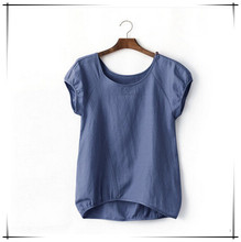 Lady adorable basic plus size bulk t shirt