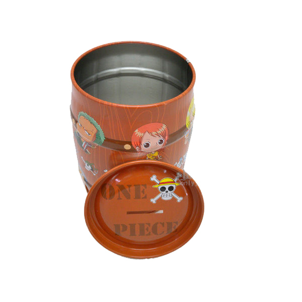 Drum shaped money collection barrels wooden money bank box