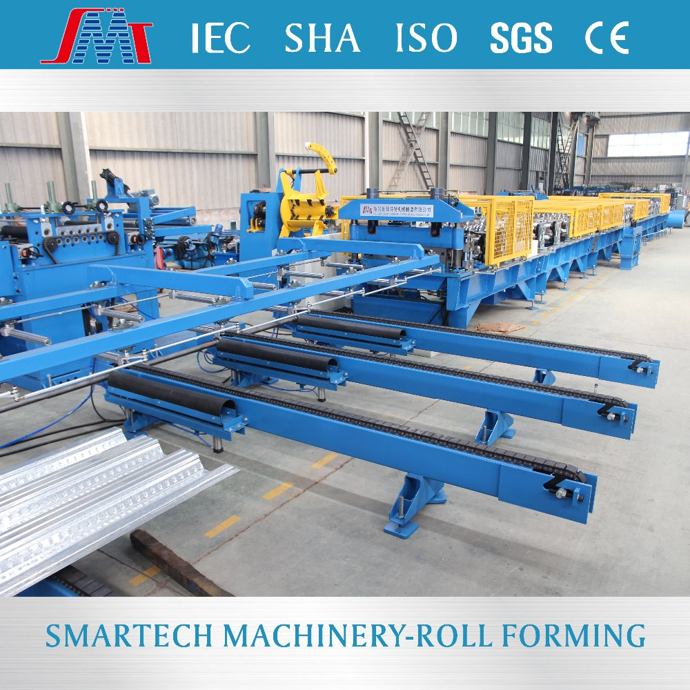 Galvanized metal deck sheet forming machine with embossing from Smartech Machinery