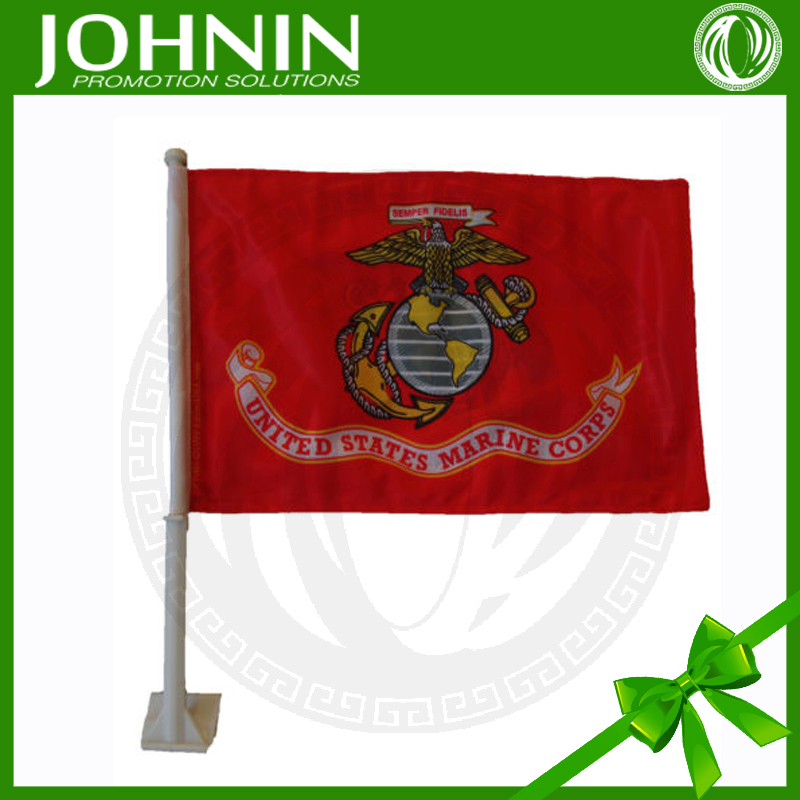 customized polyester advertising us marine corps car flag