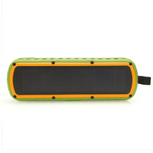 New design excellent Sound hands free Waterproof Bluetooth Speaker with solar panel for bicycle